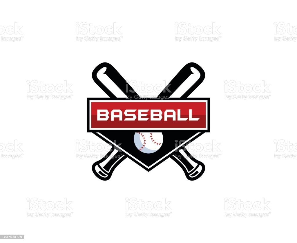Baseball icon vector art illustration