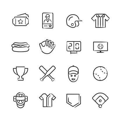 Baseball Icons—Sketchy Series
