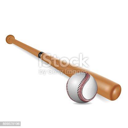 istock Béisbol aislado sobre fondo blanco. Ilustración de vector. 859529196 d2b1bb3d71396