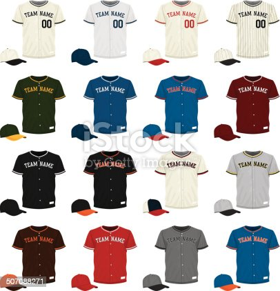 istock Baseball Jersey Collection 507088271