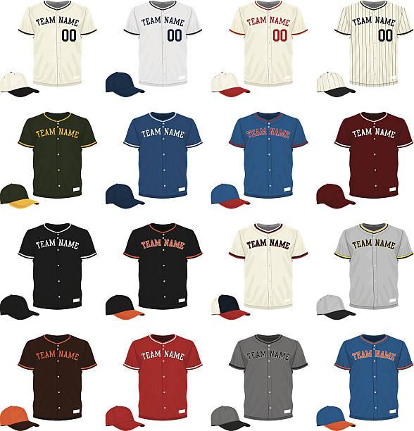 Baseball Jersey Collection vector art illustration