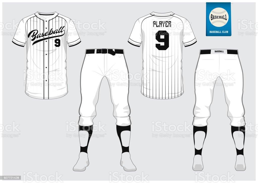 Baseball Trikot Sport Uniform Raglan Tshirt Sport Kurz Socke Vorlage ...