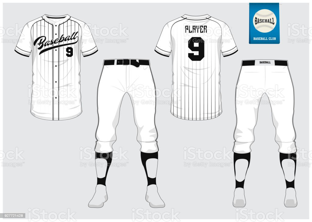 Baseball jersey, sport uniform, raglan t-shirt sport, short, sock template. vector art illustration