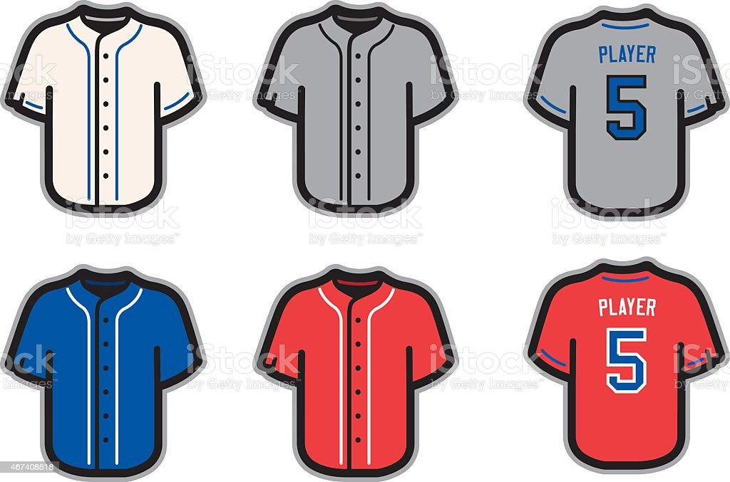 royalty free baseball jersey clip art vector images illustrations rh istockphoto com Baseball Jersey Template printable baseball jersey clipart