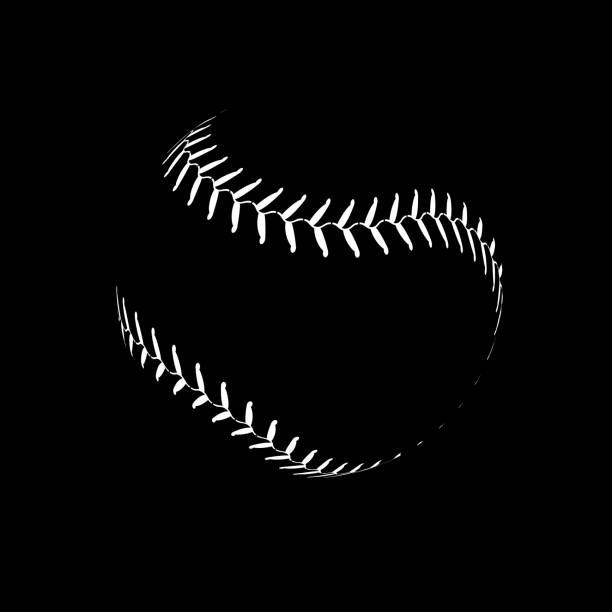 ilustraciones, imágenes clip art, dibujos animados e iconos de stock de símbolo aislado de la ilustración bola de encaje de béisbol. vector de béisbol de fondo de diseño deportivo - béisbol