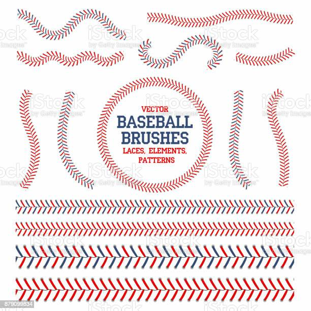 Baseball laces set baseball seam brushes red and blue stitches laces vector id879099834?b=1&k=6&m=879099834&s=612x612&h=axlfw8gt5uhi2fgrh0uftcvvhayibn wr8kfrpcbmwg=