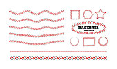 istock Baseball lacing on white background. Vector 1313304678