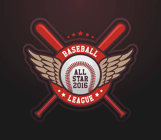 Baseball League All Star vector art illustration