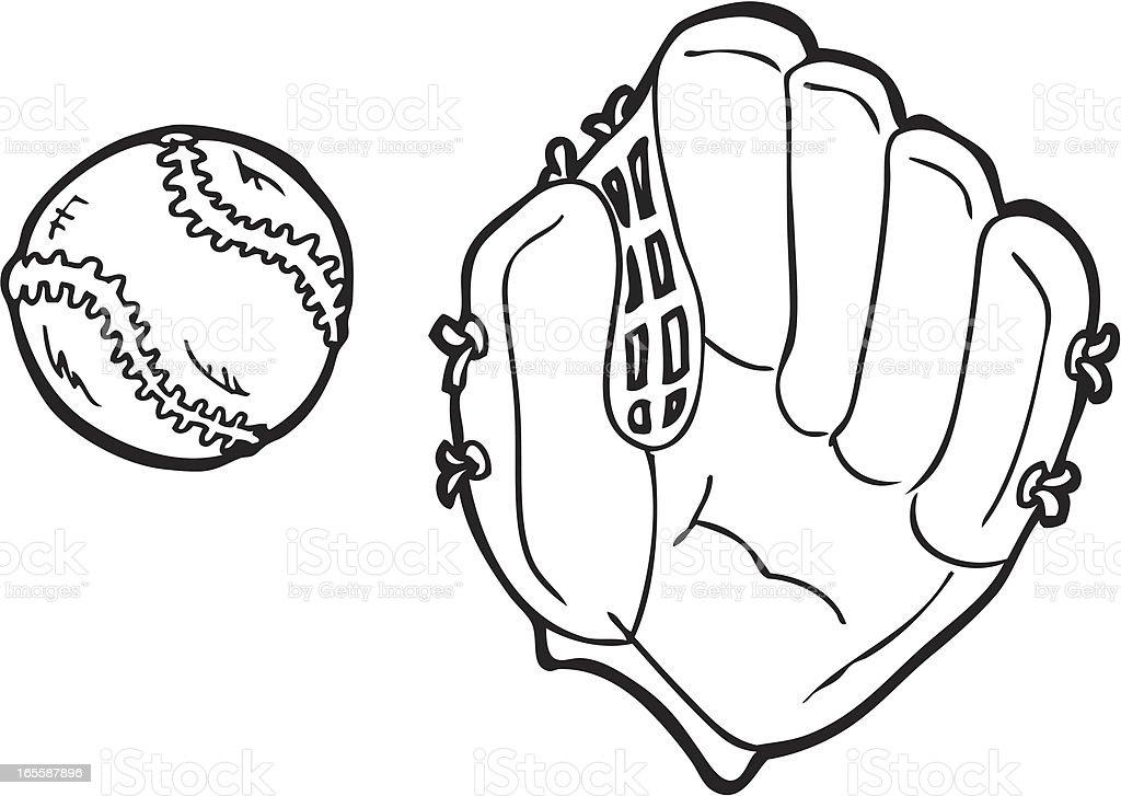 Baseball line art royalty-free baseball line art stock vector art & more images of ball