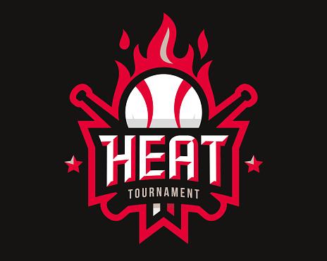 Baseball logo design, emblem tournament template editable for your design.