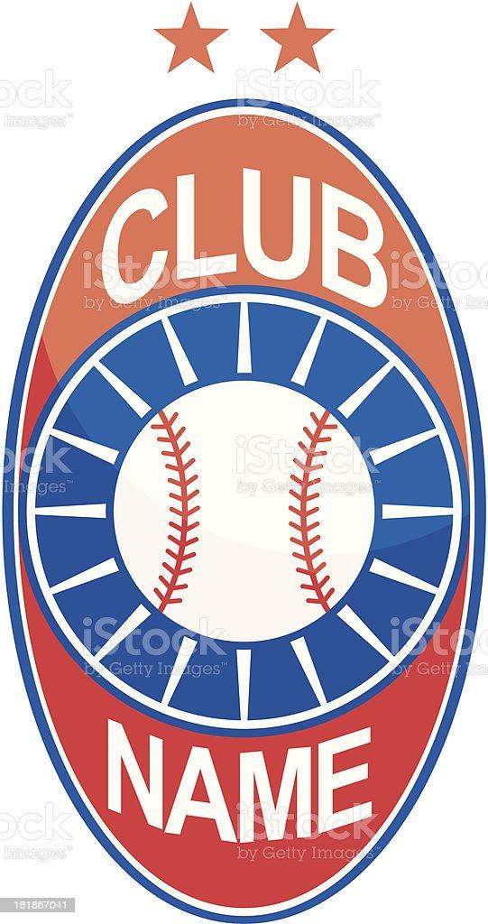 Baseball logo - elliptic form royalty-free stock vector art