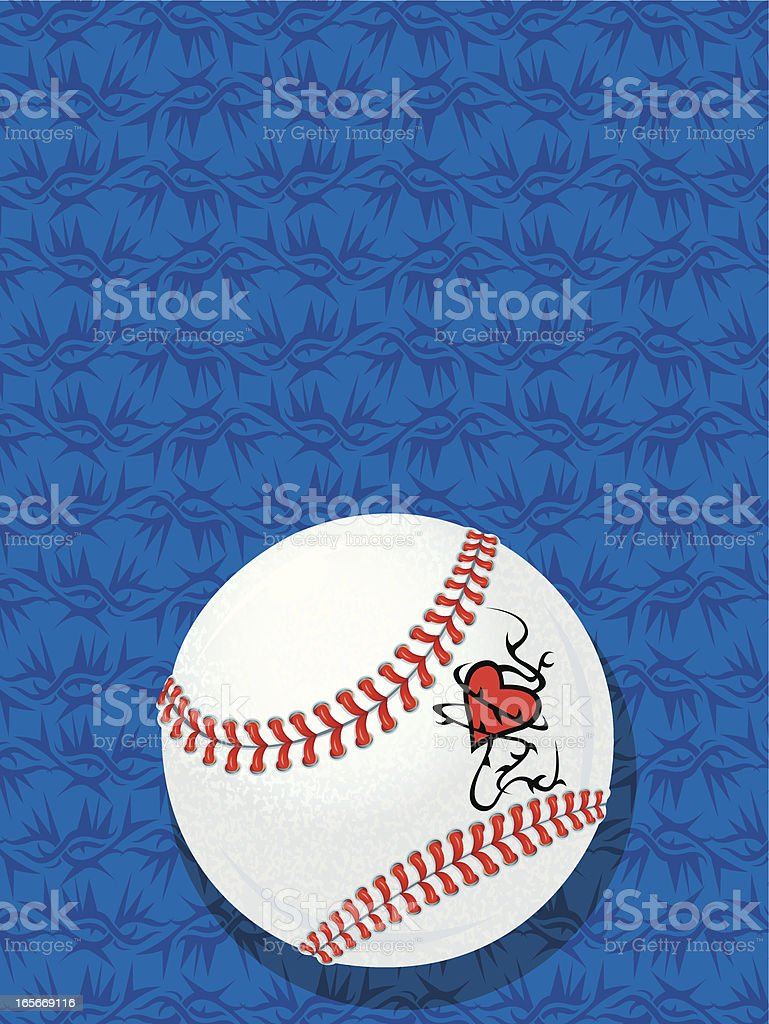 Download Baseball Love Tattooed Heart And Background Stock ...