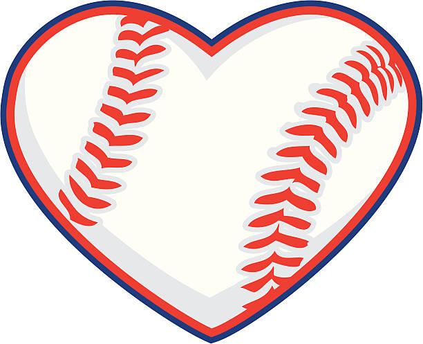 Download Softball Or Baseball Heart Illustrations, Royalty-Free ...