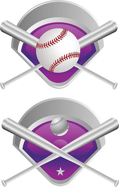 Baseball Medals vector art illustration