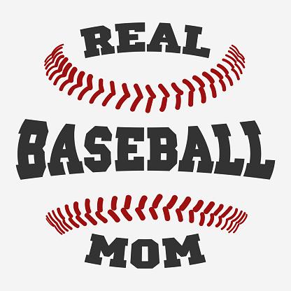 Baseball mom Typography