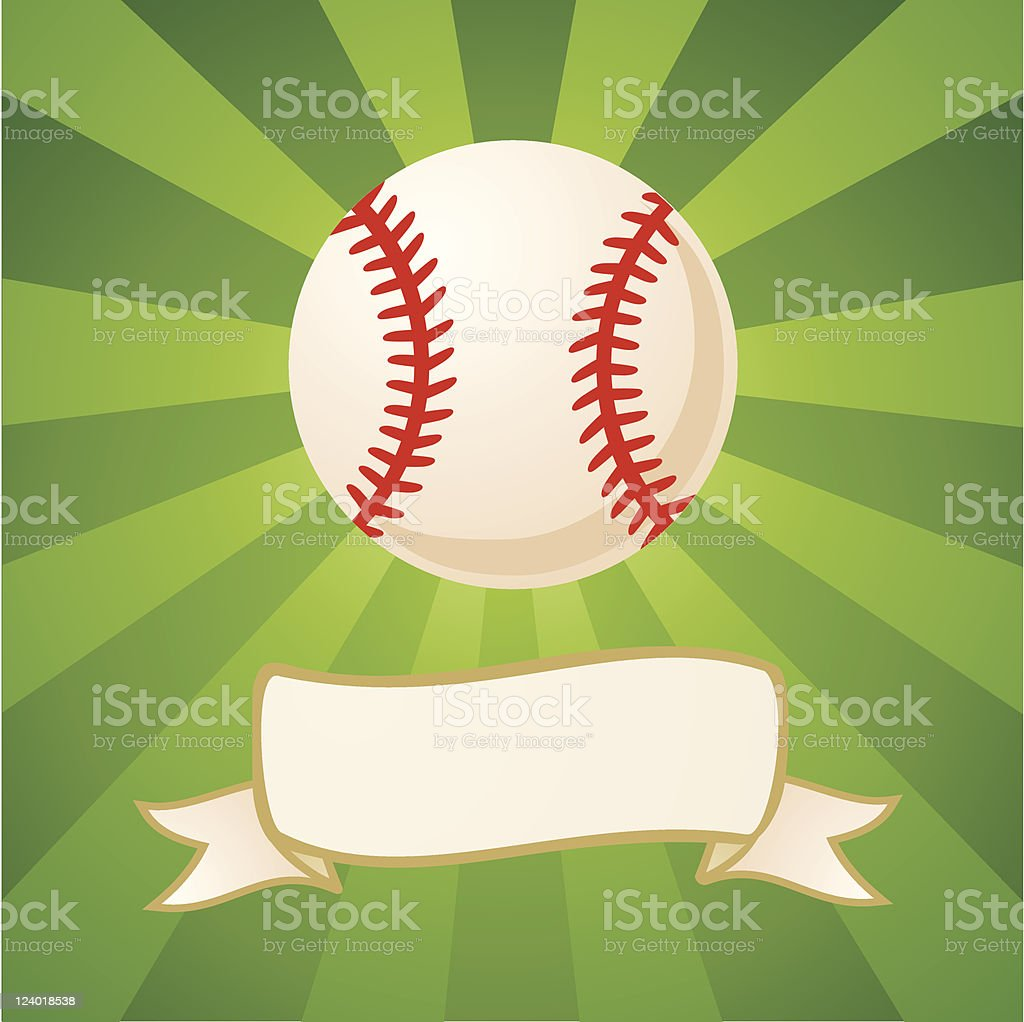 Baseball on a bright background vector art illustration