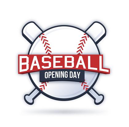 Baseball Opening Day Symbol