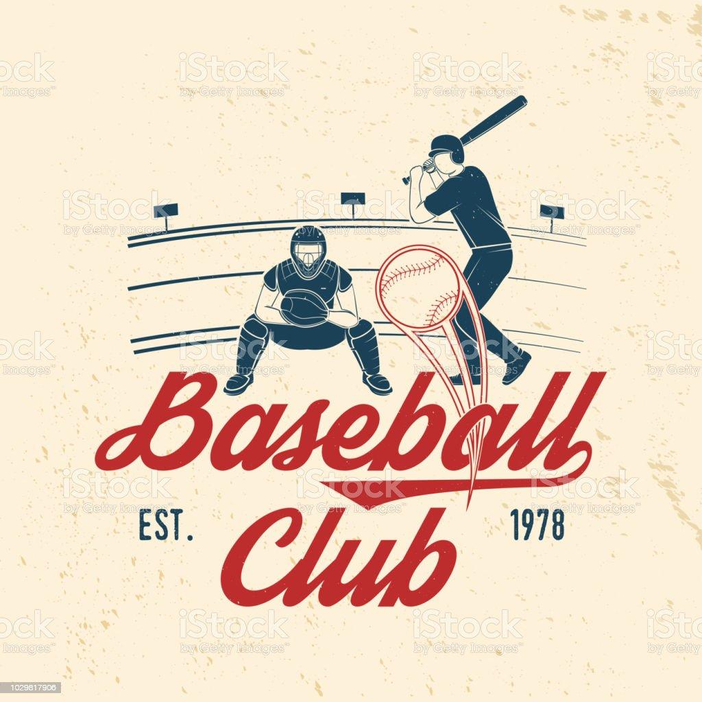 Baseball or softball club badge. Vector illustration. Concept for...