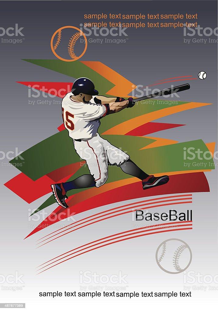 Baseball  Pancher vector art illustration