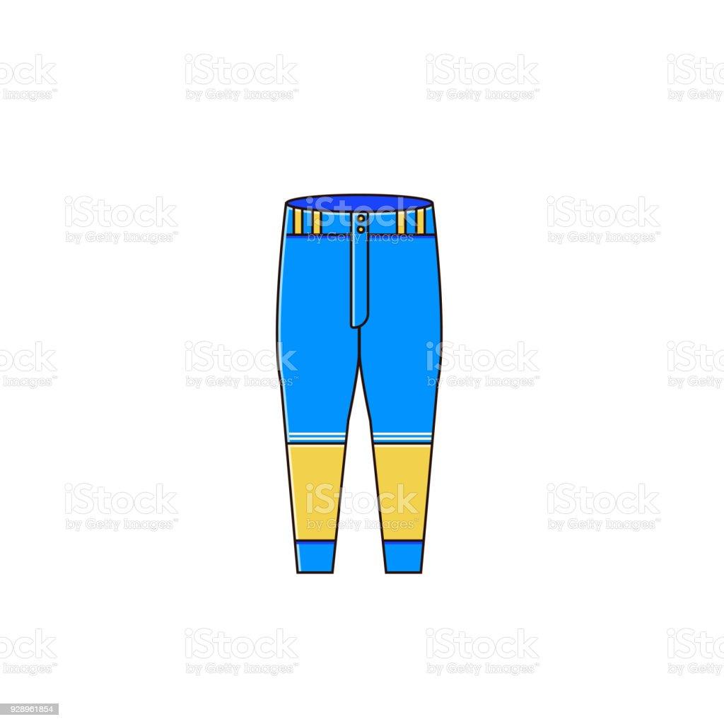 baseball pants vector illustration base ball uniform element for men rh istockphoto com Vector Jeans Vector Blue Jeans