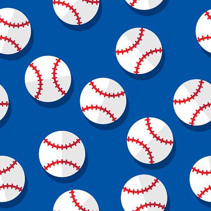 Baseball Pattern Flat