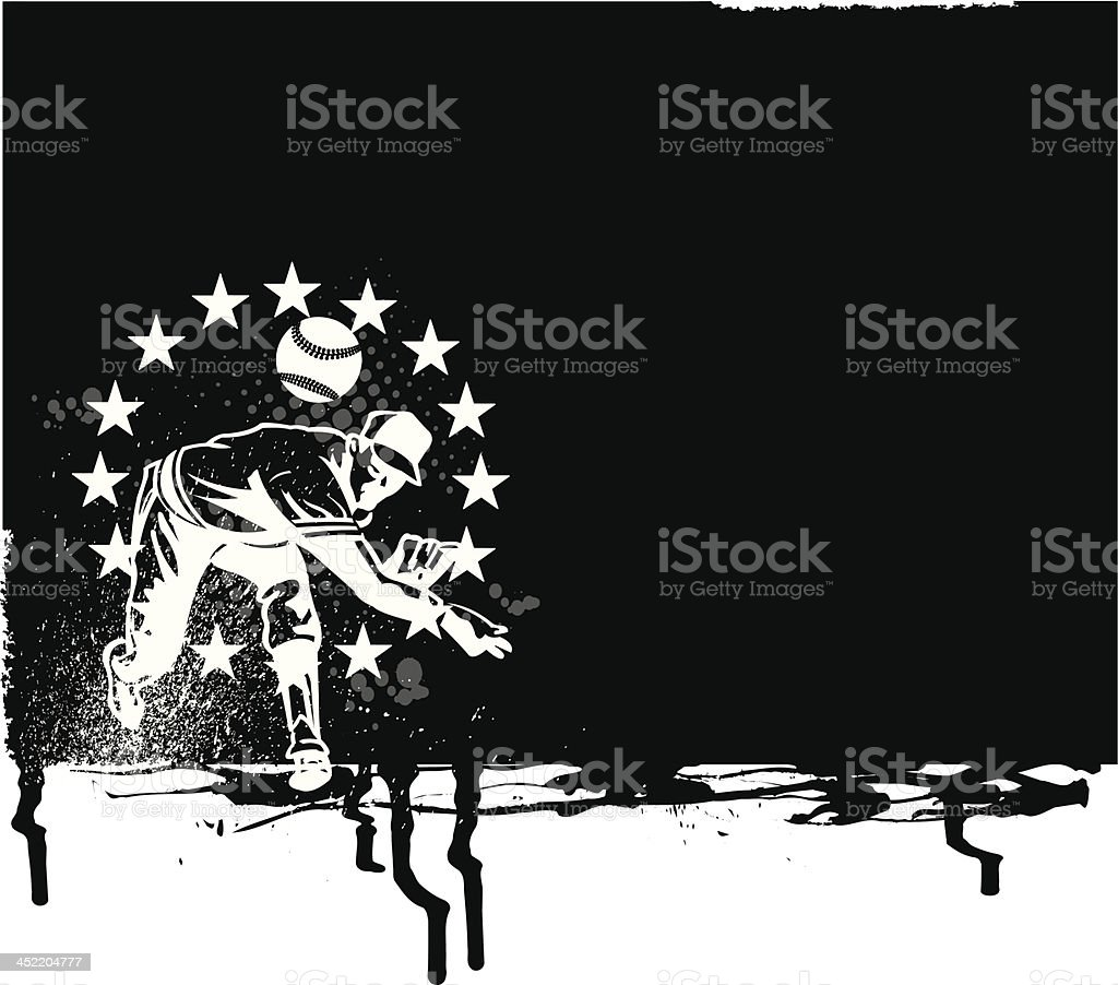 Baseball Pitcher All-Star Background royalty-free stock vector art