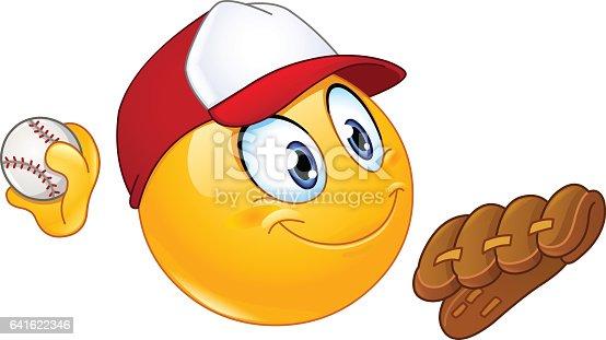 istock Baseball pitcher emoticon 641622346