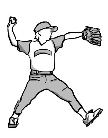 Baseball Pitcher Kid League