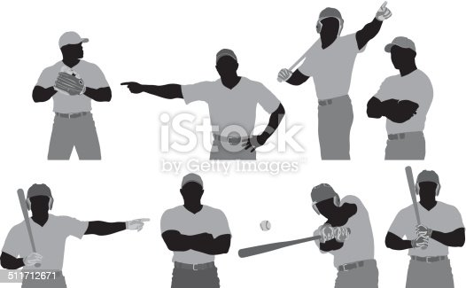 Baseball player in different poses