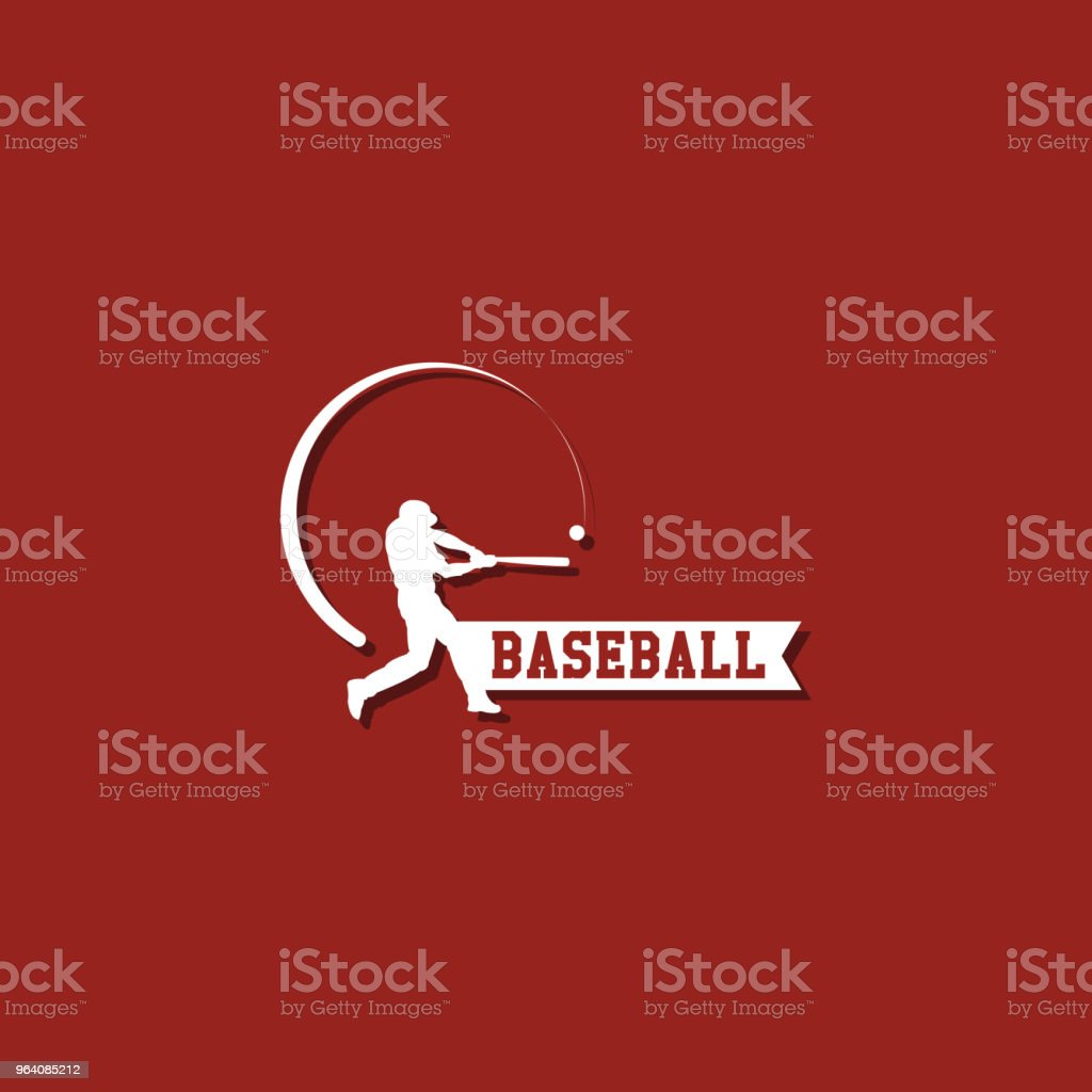 Baseball Player Logo Vector Template Design - Royalty-free Adult stock vector