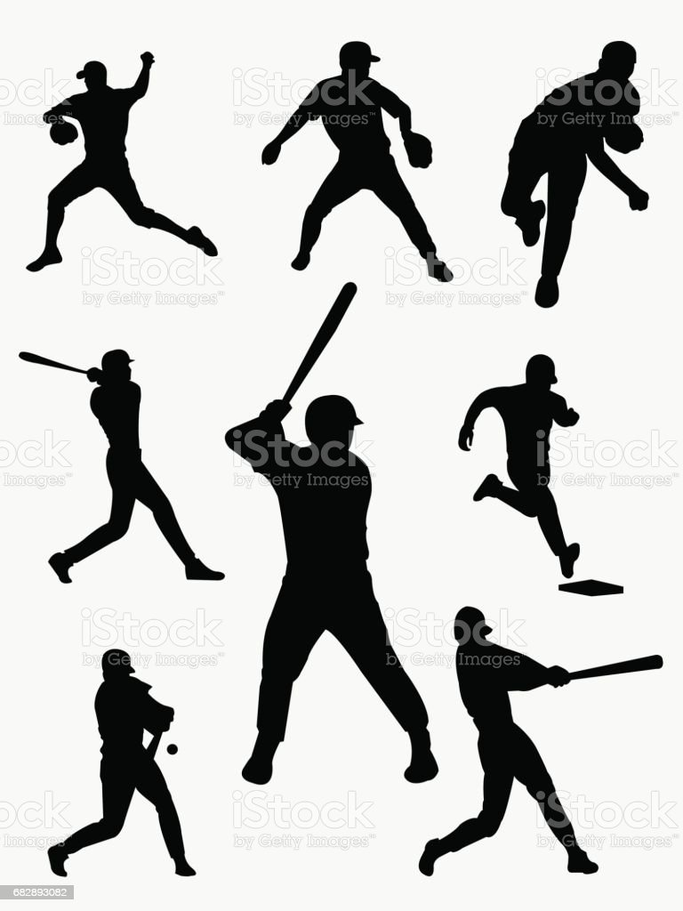 baseball player Pictograms people Man Icon Sign Symbol vector art illustration