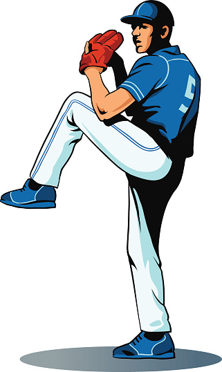 Baseball Player - Pitcher in Action