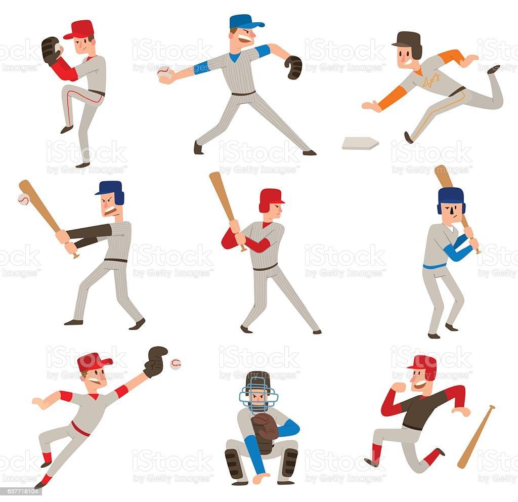 Baseball player vector icon. vector art illustration