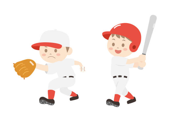 Baseball player1 vector art illustration