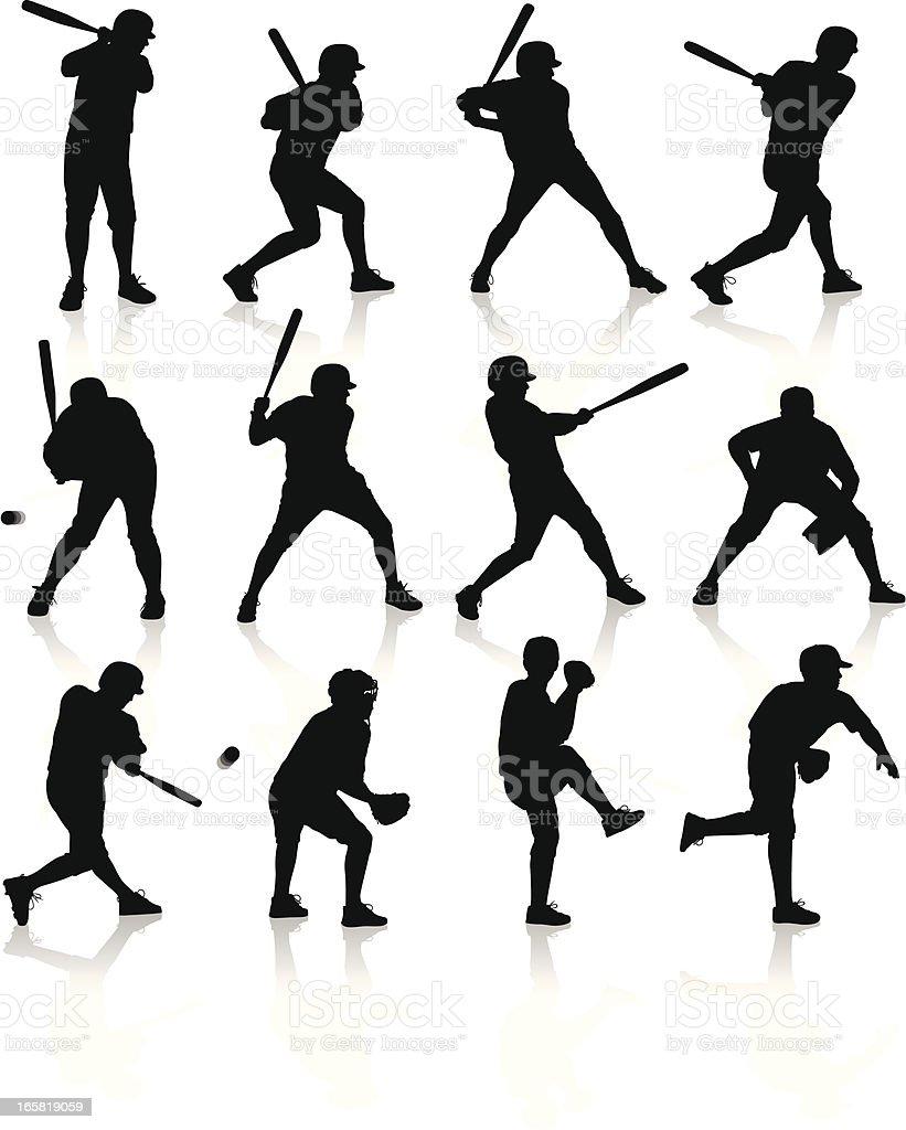 Baseball Players Stock Illustration - Download Image Now