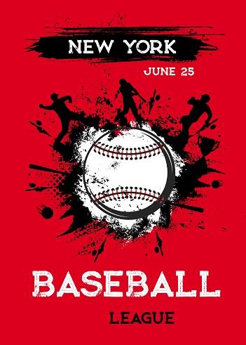 Baseball poster flyer, softball tournament cup