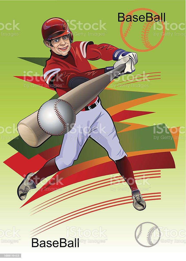 Baseball poster royalty-free stock vector art