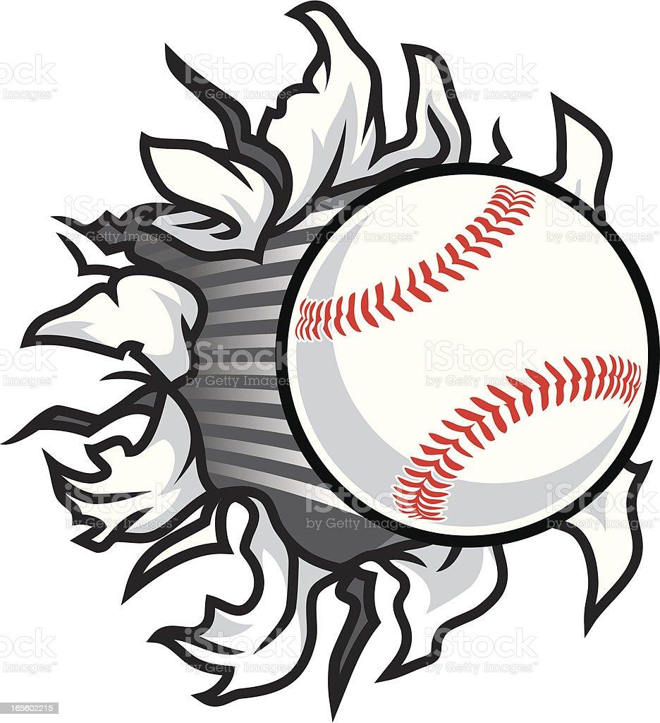 Baseball Rip vector art illustration