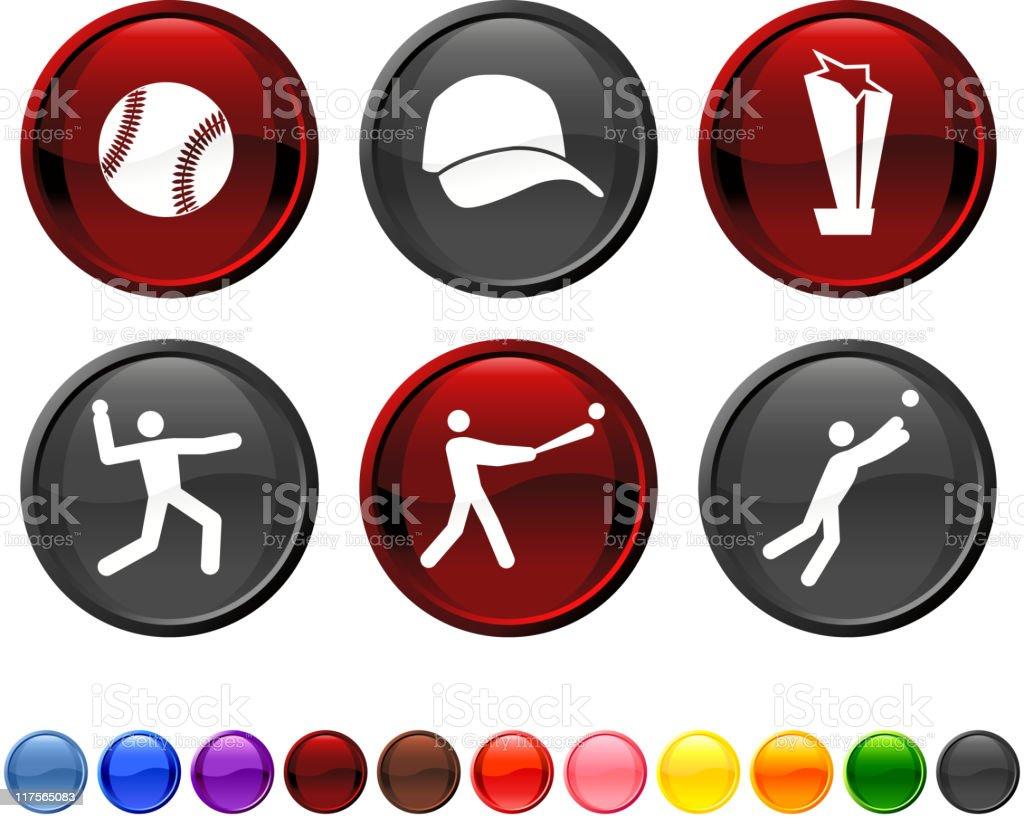 baseball royalty free vector icon set