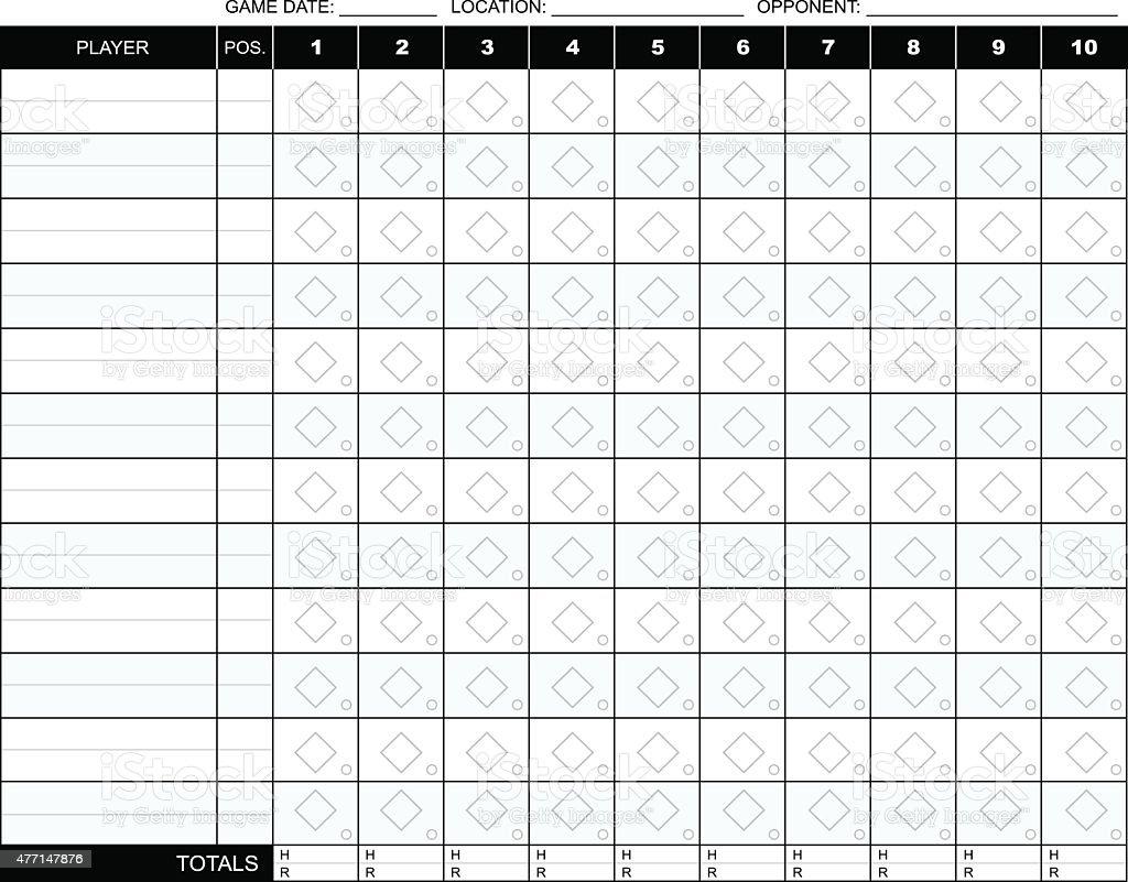 Baseball Scorecard royalty-free baseball scorecard stock vector art & more images of 2015