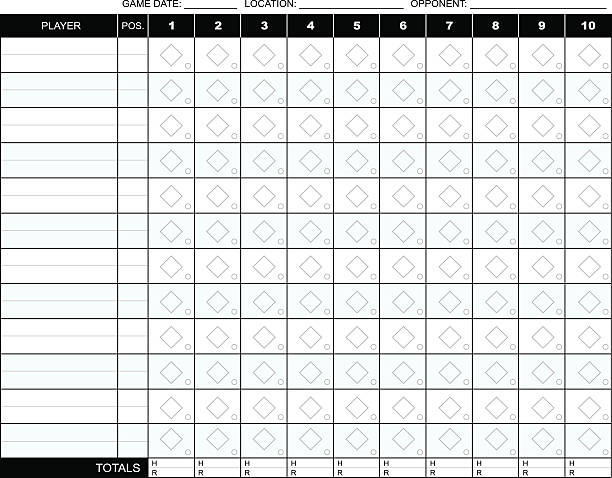 Baseball Scorecard vector art illustration