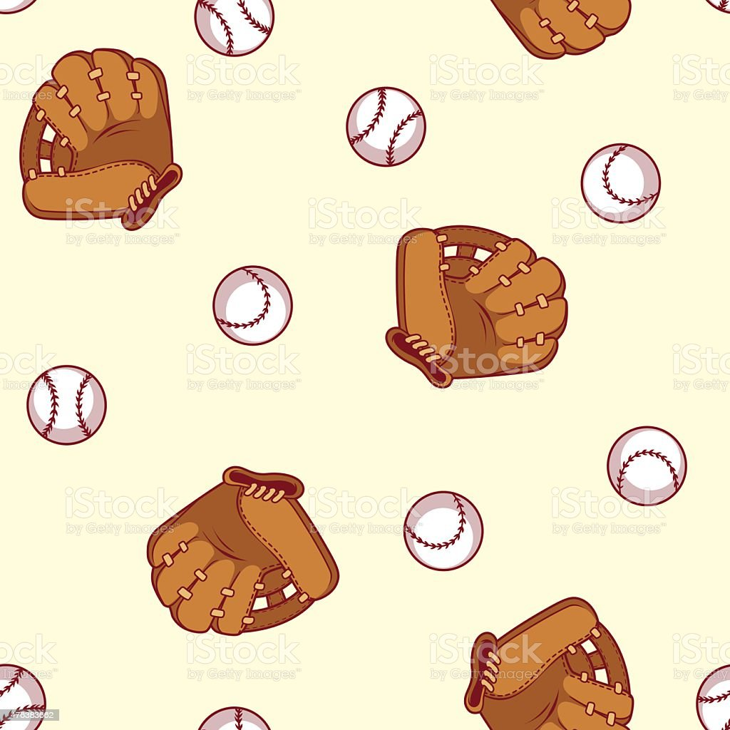 Baseball seamless pattern. Glove and ball for a baseball. royalty-free baseball seamless pattern glove and ball for a baseball stock illustration - download image now