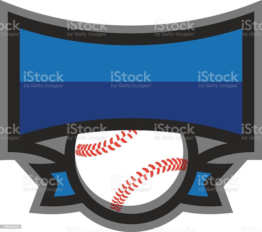 Baseball Shield Logo royalty-free baseball shield logo stock vector art & more images of 2015