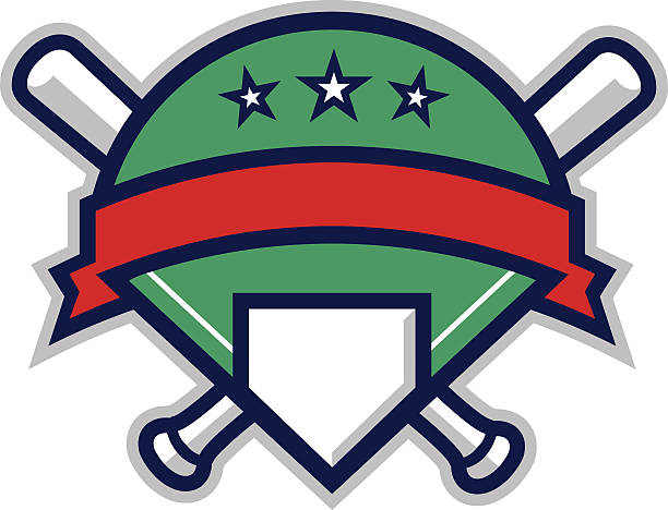 Baseball Shield vector art illustration