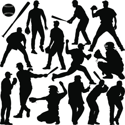 Baseball Silhouette Series