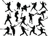 Baseball silhouettes