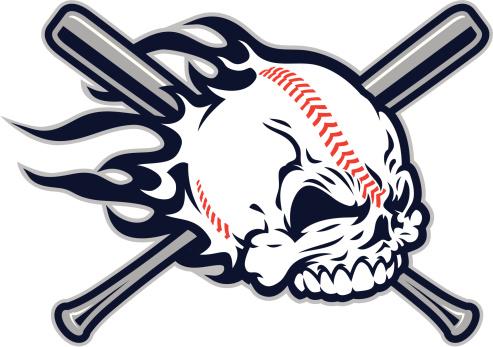 Baseball Skull design