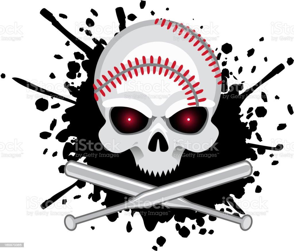 Baseball Skull Splash vector illustration.