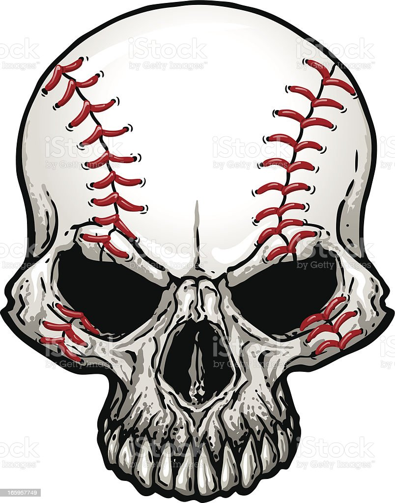 baseball skull stock vector art more images of anger 165957749 rh istockphoto com skull artwork vector skull vector images