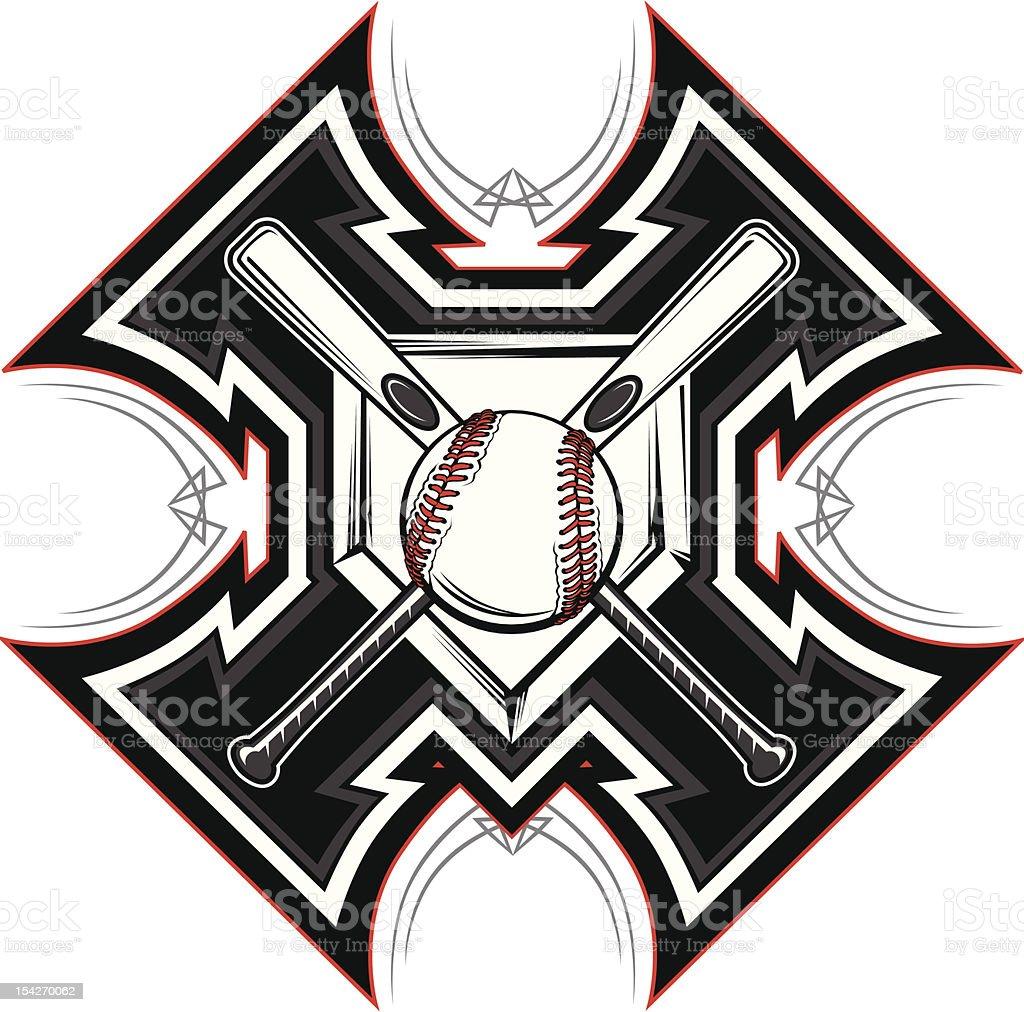 Baseball Softball Bats Graphic Vector Template royalty-free stock vector art